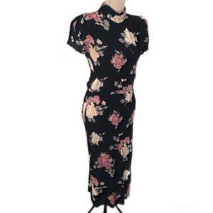 Vintage lightweight roses dress